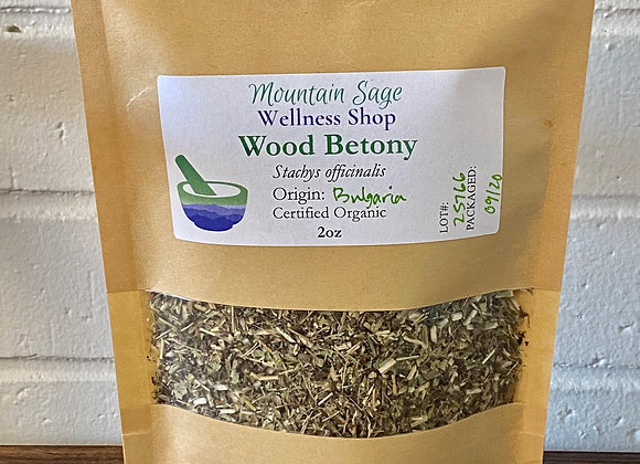 Certified Organic Wood Betony ∣ Mountain Sage Wellness Shop