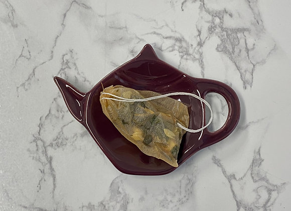Teapot Tea Bag Holders Reds, Blues, Greens