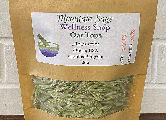 Certified Organic Oat Tops ∣ Mountain Sage Wellness Shop