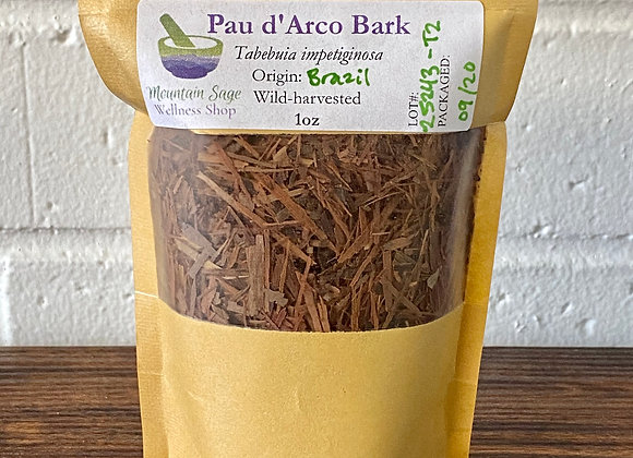 Wild-Harvested Pau d'Arco ∣ Mountain Sage Wellness Shop