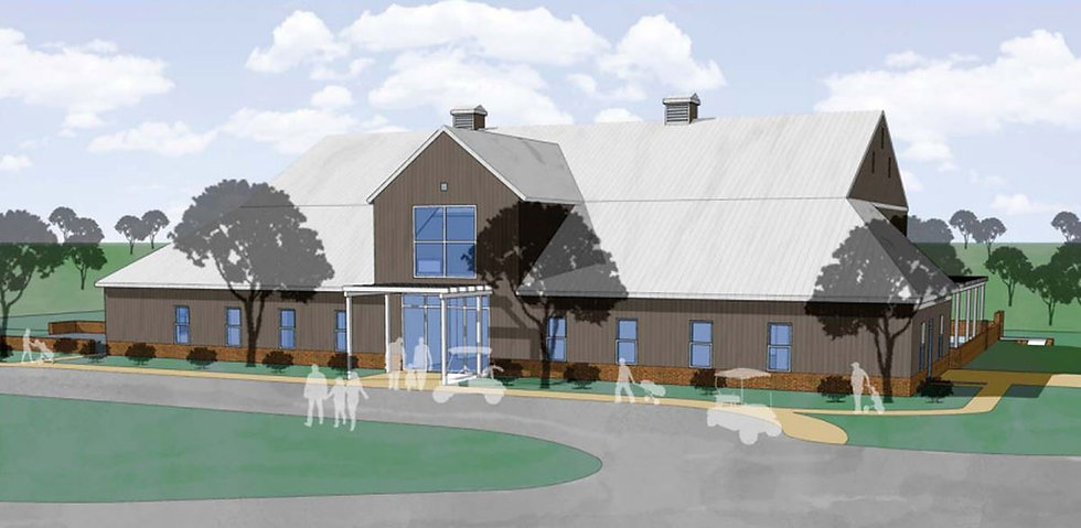 Clubhouse Render with blue overlay