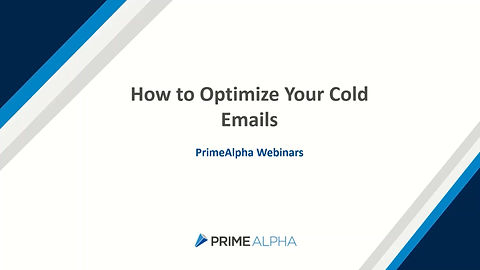 How to optimize your cold emails