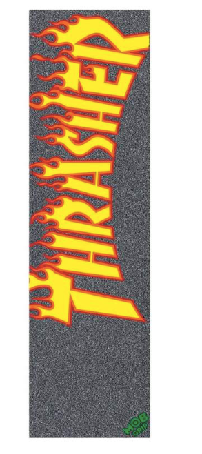 MOB GRIP THRASHER YELLOW AND ORANGE FLAMES GRIPTAPE - BLACK