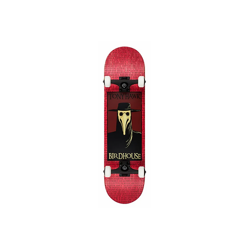 """Birdhouse Stage 3 Plague Doctor Complete Skateboard Red 8"""""""