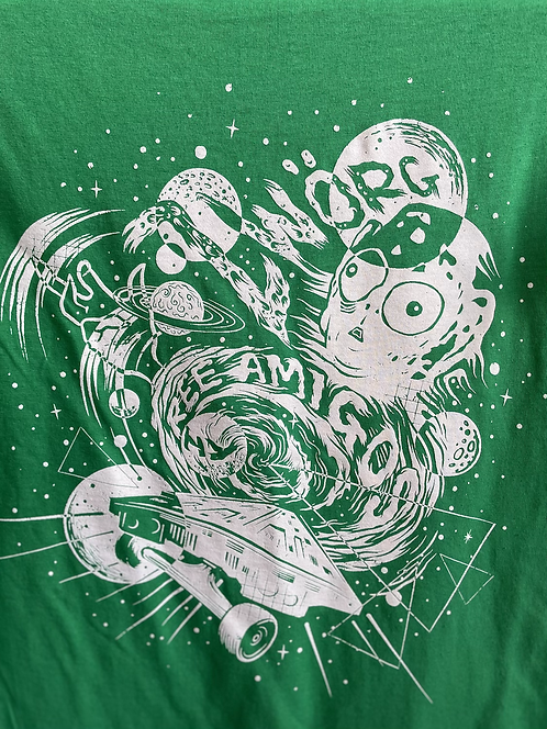 Zworg X Three Amigos Green T-shirts
