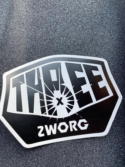 Zworg X Three Amigos Logo Sticker
