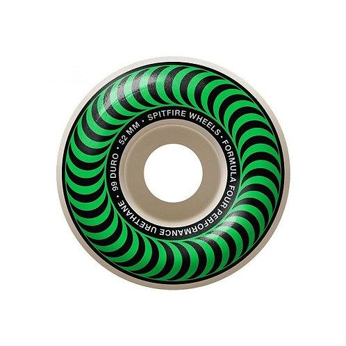Spitfire Formula Four Classics Green Wheels - 52mm 99du