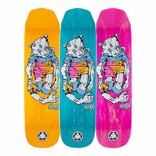 """Welcome Teddy on Wicked Princess Orange Deck 8.125"""""""