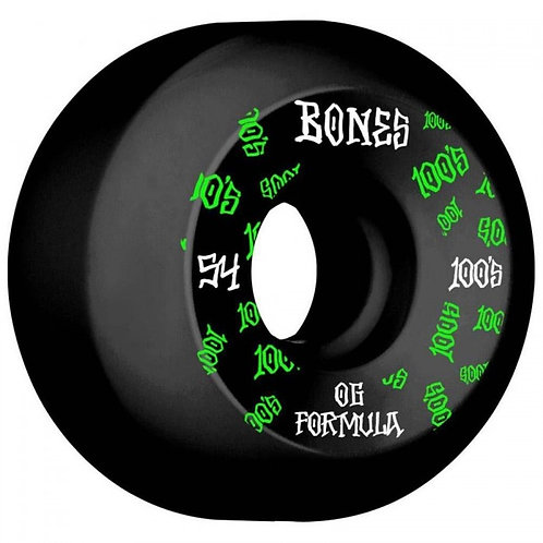 Bones Wheels 100's V5 #3 Sidecut Black 54MM