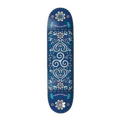 "Drawing Boards Positive Patterns Spiral Skateboard Deck - 8.0"""