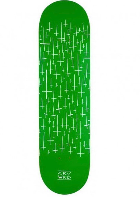 "Carve Wicked Team Logo Skateboard Deck Green 8.25"""