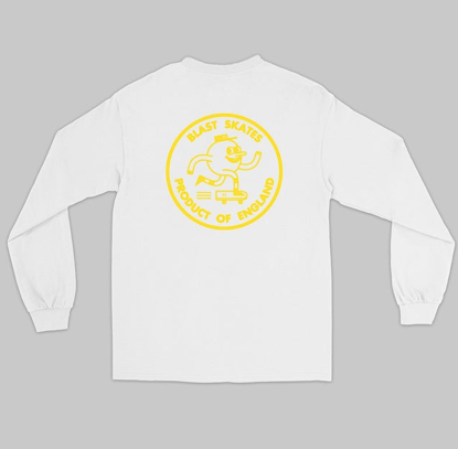 Blast White Long Sleeve with Logo