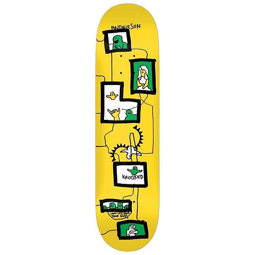 """Krooked Brian Anderson Frames Deck 8.38"""""""