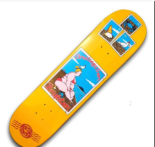 DRAWING BOARDS Postcard Brighton Skateboard Deck 8.0''