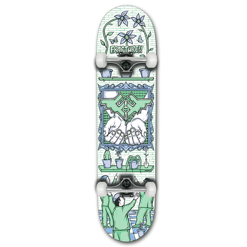 Fracture Skateboards x Adswarm Complete  8.0""