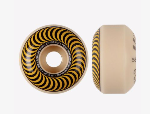 Spitfire Formula Four Classic Wheels Yellow 55 MM