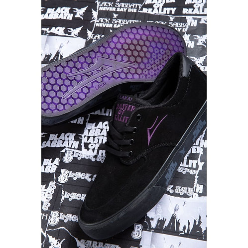 Lakai X Black Sabbath Riley Black Suede