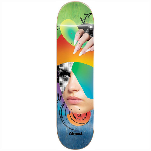 """Almost Face Collage Skateboard Deck 8:25"""""""