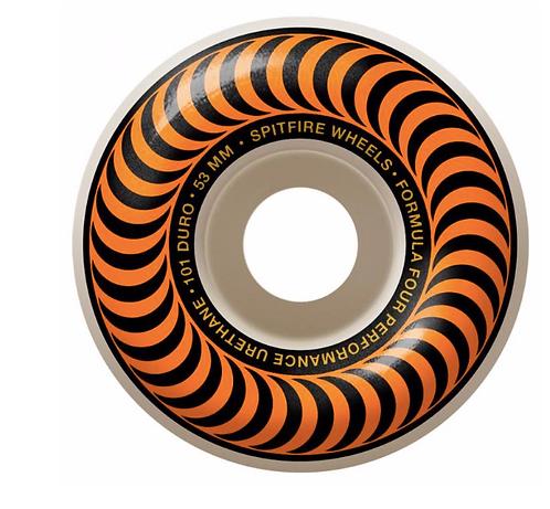 Spitfire Formula Four Classic 99 Orange Wheels   53mm
