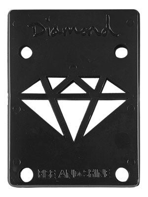 "DIAMOND RISER PADS 1/8"" BLACK"