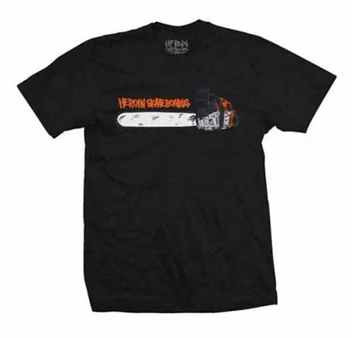 Heroin Skateboards Chainsaw T-shirt