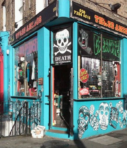 NEW   Three Amigos skateshop, Camden, London