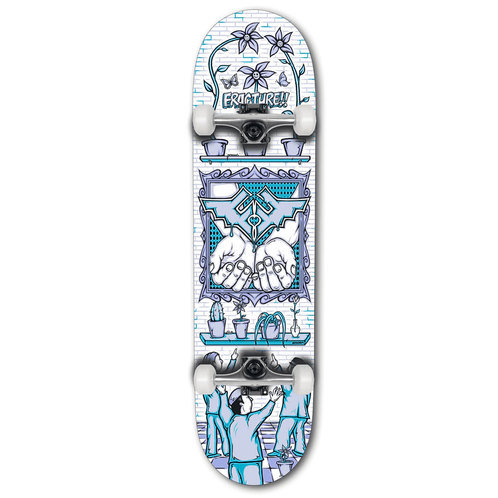 """Fracture x Adswarm Complete Skateboard 8.25"""""""