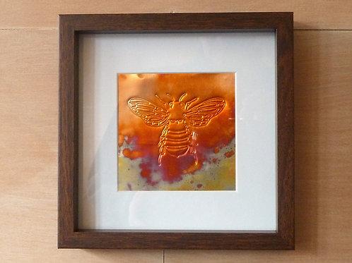 Framed Bee on Copper 5