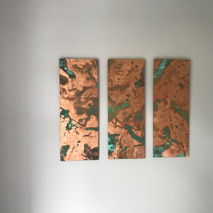Commissioned Copper Triptych