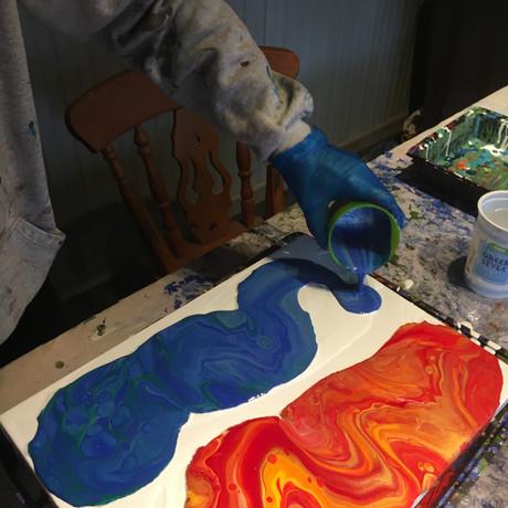 Fluid Painting Double Pour
