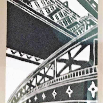 Lino Print, Castlefield Manchester