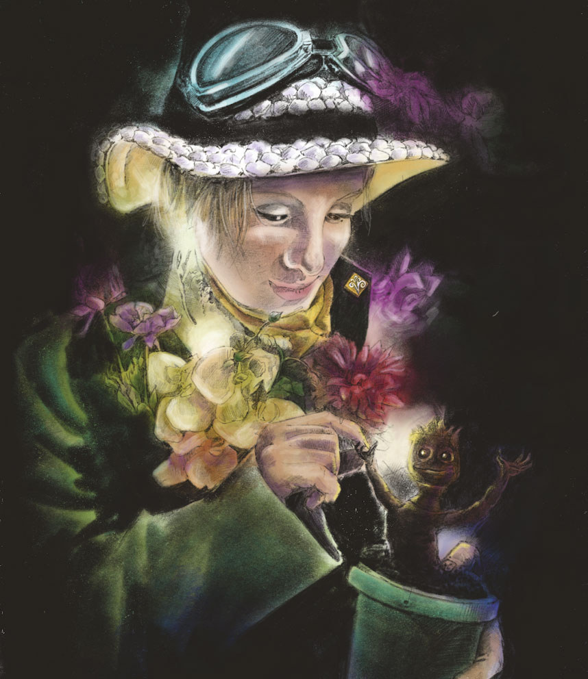 Portrait of a Magical flower girl