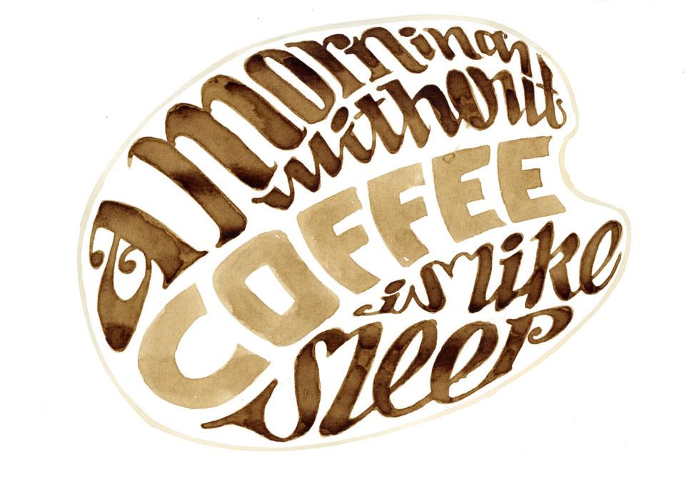 Coffee calligraphy