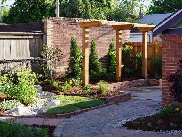 Denver Landscape Design with Pergola and Hardscape - After