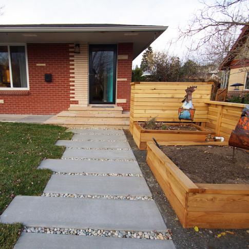 Denver Landscape Design - Entry Walkway