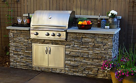 custom outdoor kitchen