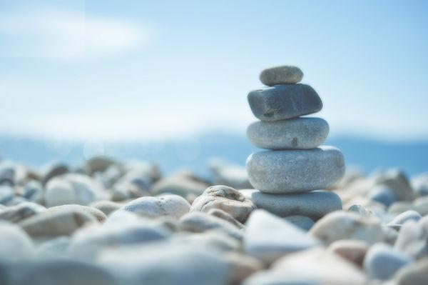 white pebbles on the beach