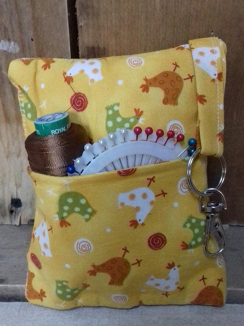 Yellow Chicken Handmade Fabric Pincushion