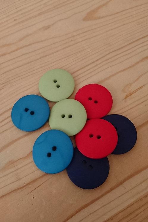 Mix Coloured Craft Buttons 30mm