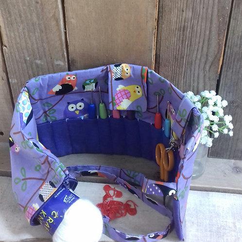 Purple Owl Handmade Fabric Crochet Roll
