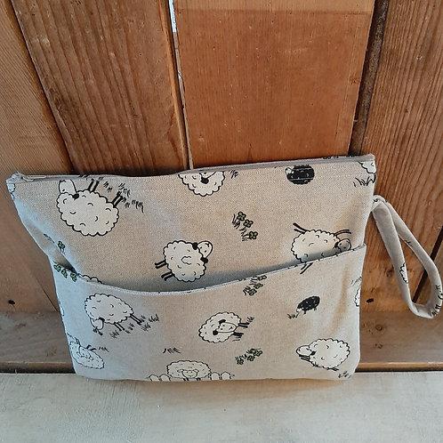 Natural Sheep Handmade Fabric Washbag