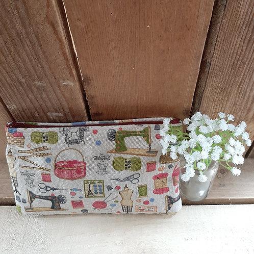 Natural sewing  Theme  Handmade  Fabric Zipper Case