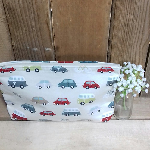 Camper Van Handmade Fabric Washbag