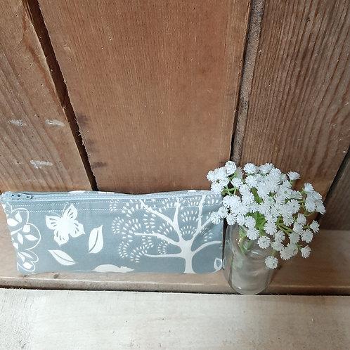 Grey Woodland Handmade Fabric Purse