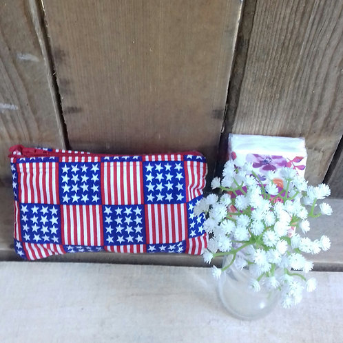 Stars And Stripes Handmade Fabric Purse