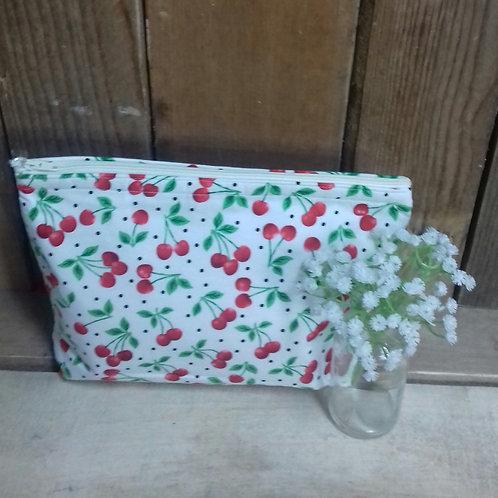 White Cherry Handmade Fabric Washbag