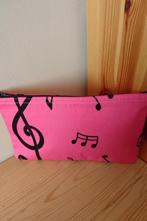 Pink Music Handmade Fabric Accessorie's Case