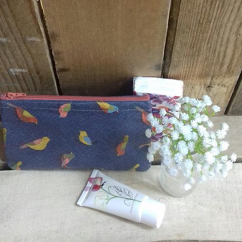 Grey Hedgerow Handmade Fabric Purse