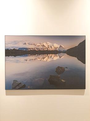 Vue sur le Mont-Blanc depuis les lacs de Chéserys (Chamonix)