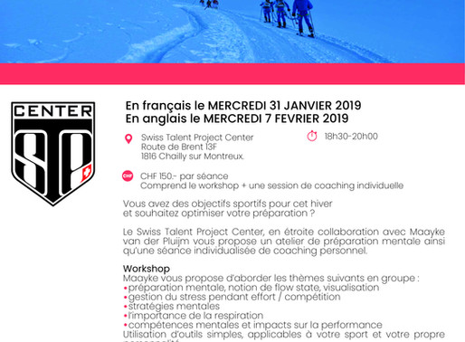 Ce jeudi 7 février: workshop et coaching avec Maayke en anglais !